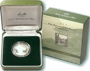 1999 $1 Fine Silver Proof Coin – The Last Anzacs